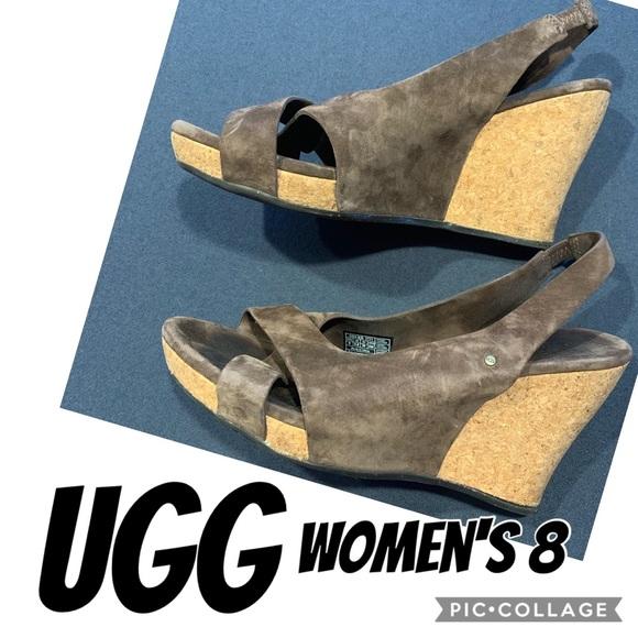 f8a7b6578c4 UGG   Brown Wedge Sandals   Women's 8